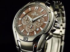 Croton Men's Titanium Chronomaster Chronograph Brown Carbon Dial Watch-RARE