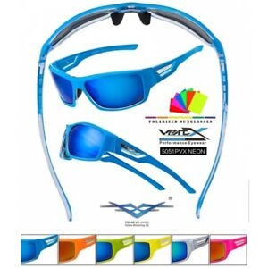 Lunettes De Soleil Polarisantes Polarisees Sport Vertex Vtt Vélo Cyclisme Homme Femme 5051pvx (monture Corail Verres Revo Orange) 9eIXdO1