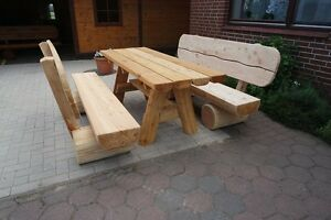 Rustikale Gartenmöbelsitzgruppeterrassenmöbelholzmöbel Ebay