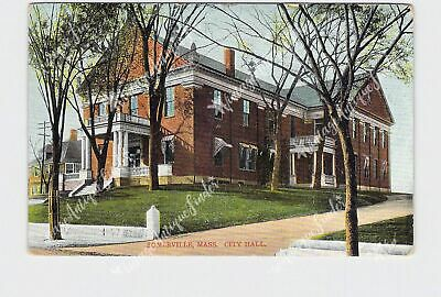 Cohoes New York City Hall Street View Antique Postcard
