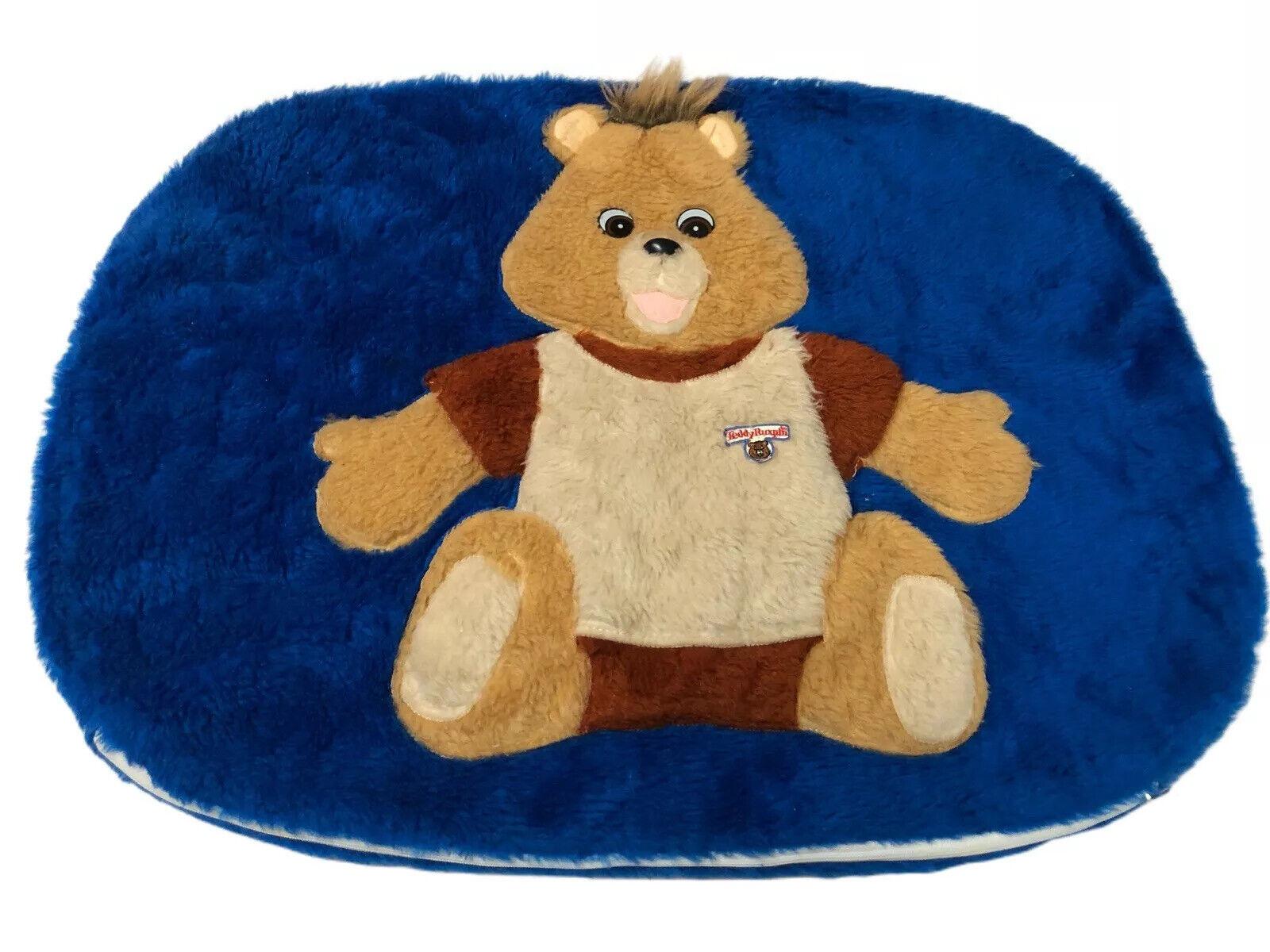Vintage 80s Teddy Ruxpin Plush Pillowcase Cover - Very Rare HTF