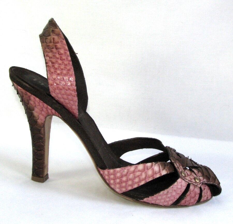 Python Leather 3ar54lqj Prada Sandals And Genuine Brown Pink 0yN8vwmnO