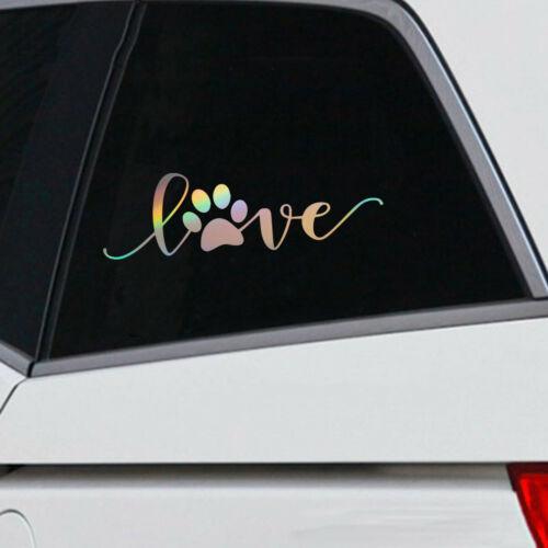 Love Dog Paw Print Sticker Car Window Motorcycle Vinyl Truck Car Van Home Decal