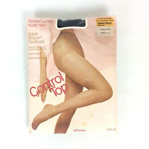 6924441dac Image is loading JCPenney-Super-Shaper-Pantyhose-Size-Queen-Short-Navy-