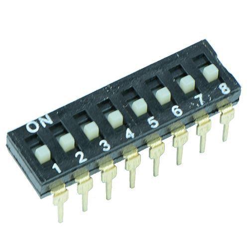 10 x 8-Way Profil Bas DIL switch