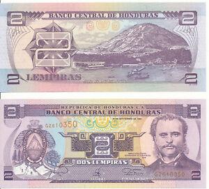 Honduras-2-Lempiras-1997-UNC-Pick-80