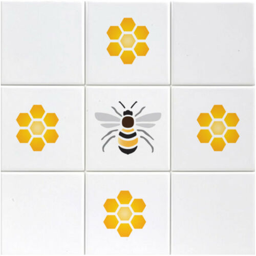 Honeycomb Pattern Bee Stencil Bee and Honeycomb Stencil Airbrush Craft