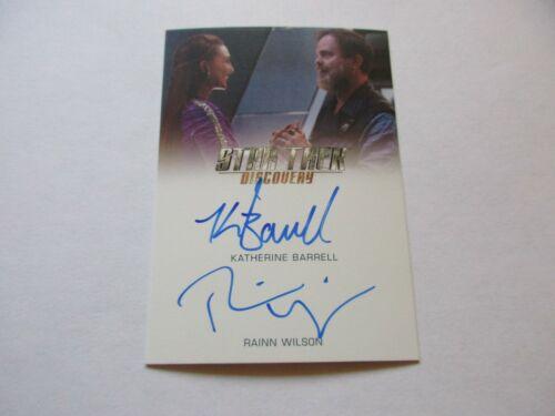 Star Trek Discovery Season 1 Rainn Wilson /& Katherine Barrell Dual Autograph