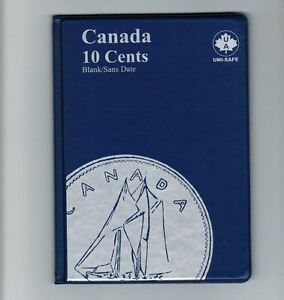 Uni-Safe Canadian Canada 10 Cents Dime Coin Collection Album Folder 1920-Date