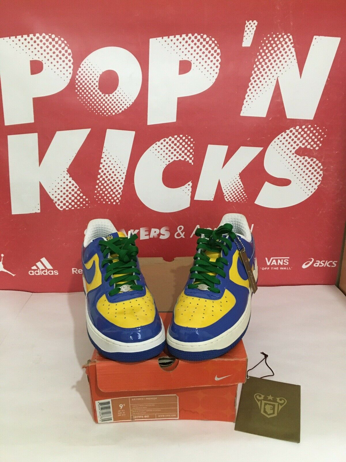 Nike Air Force 1 Brazil World Cup Royal green yellow