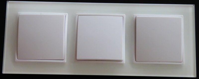 3xWechselschalter im Glas Rahmen Einbau A weiß 3fach 10Ampere  288 | Erste Kunden Eine Vollständige Palette Von Spezifikationen