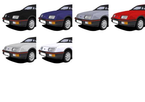 LARGE CHOOSE YOUR CAR COLOUR. FORD SIERRA XR4i FRIDGE MAGNET