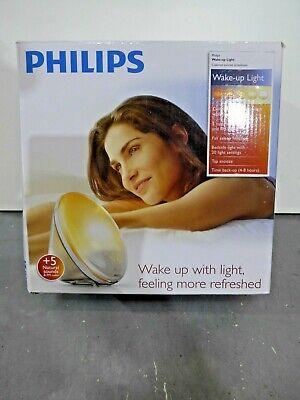 Philips Wake Up Light Alarm Clock Colored Sunrise Sunset Simulation HF3520//60