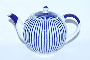 RUSSIAN Imperial Lomonosov Porcelain Teapot Night Cobalt 22k Gold Rare