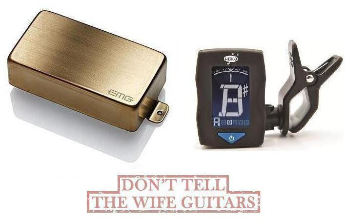 EMG HZ H4A BRUSHED Gold PASSIVE HUMBUCKER PICKUP ( FREE DUNLOP GUITAR TUNER )