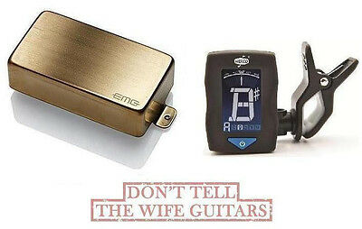 3 SETS OF DUNLOP  STRINGS EMG HZ H4A BRUSHED GOLD PASSIVE HUMBUCKER PICKUP