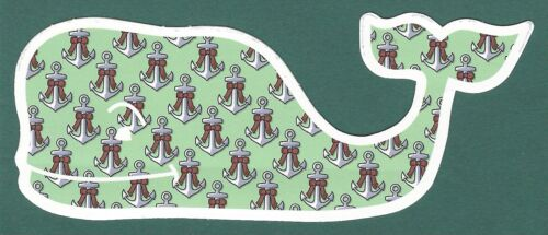 AUTHENTIC VINEYARD VINES CHRISTMAS HOLIDAY BOWS /& ANCHORS WHALE STICKER DECAL
