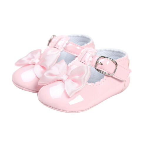 Newborn Baby Girl Princess Bow Shoes Spanish Party Soft Sole Sneakers Pram Shoes