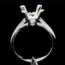 Round Cut 8.5MM Solitaire Semi Mount Ring Setting Sterling Silver 925 Ring #6.5