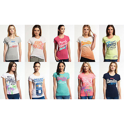 Women's Superdry T-Shirts in Various Styles and Colours