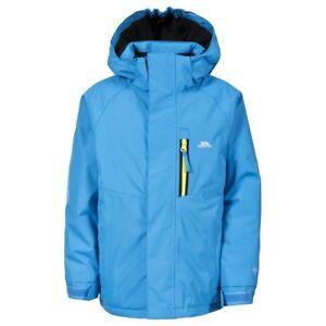 Trespass-Feldman-Boys-Waterproof-Jacket-Kids-School-Blue-Rain-Coat