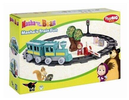 Circuit Train de Masha 32 pièces Jeu de construction Masha  Michka