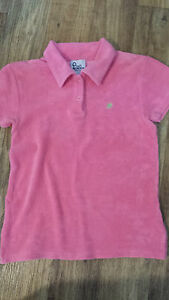 58a97d1c8 Image is loading Lilly-Pulitzer-Hot-Pink-French-Terry-Polo-Shirt-