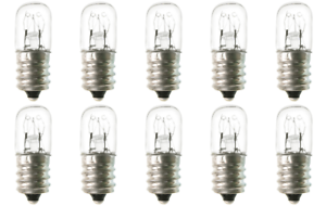 Box of 10 Bulbs 6T4.5 Incandescent 6 Watt 120V Candelabra E12 Base T4.5 6W