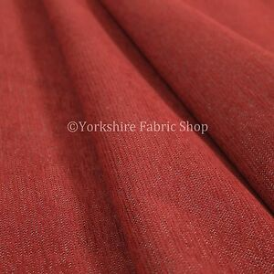 10-Metres-Of-Soft-Luxurious-Chenille-Heavily-Textured-Red-Upholstery-Fabric