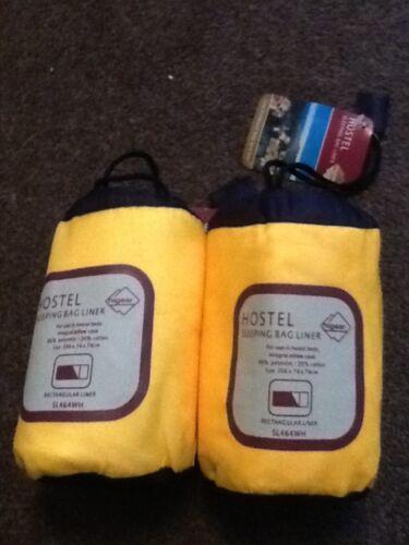 4 hostel  sleeping bag liners