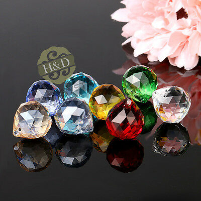 20MM Crystal Glass Lamp Ball Prisms Chandelier Wedding Decor Suncatcher Pendants