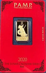 Pamp 5 Gram .999 Gold Bar Year of the Rat