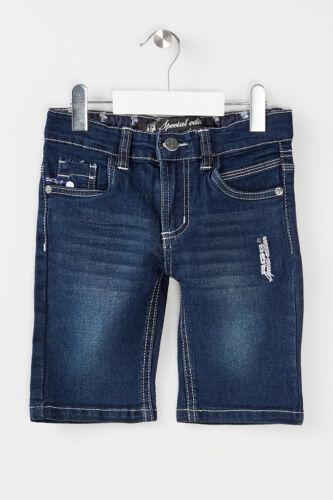 104-158 NEU Jungen Jeans Bermudas Shorts Dunkelblau RG 512 Gr