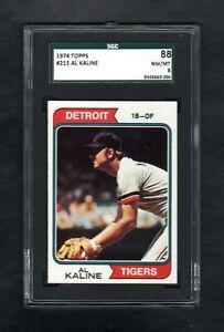 1974-TOPPS-215-AL-KALINE-HOF-DETROIT-TIGERS-SGC-8-NM-MT-CENTERED