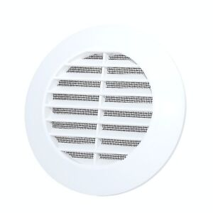 Details about Round Air Vent Grille with Flange Circle Ventilation Duct  Pipe Cover Ducting Cap