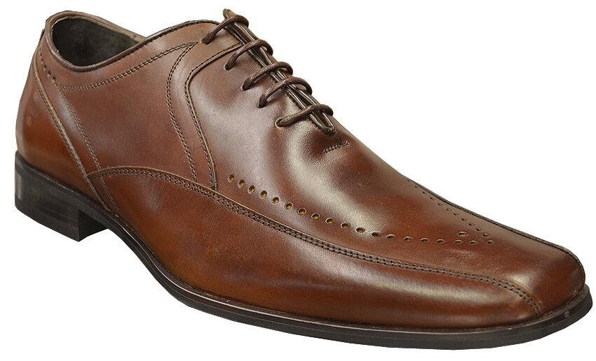 Stacy Adams Brown Leather Square Toe Classic Leather Fashion Shoes Size 11 Scarpe classiche da uomo