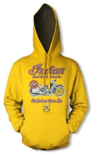 BNWT INDIAN MOTORCYCLE CLUB DISTRESSED HOODIE HOOD KIDS CHILDRENS 3 12 YRS