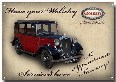 LGE A3 SIZE HAVE YOUR MORRIS SERVICED HERE ENAMELLED METAL SIGN.CLASSIC.