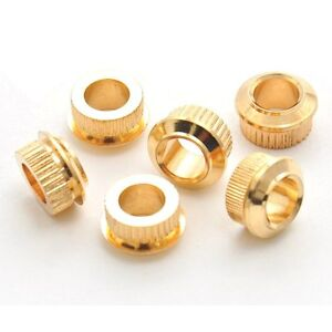 Kluson-MB05G-6x-Adapter-Bushings-for-vintage-to-modern-6-3mm-10mm-Gold