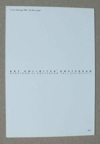 THE BLEU ANGEL ART UNLIMITED B 121-1984 * COR DEKKINGA CP