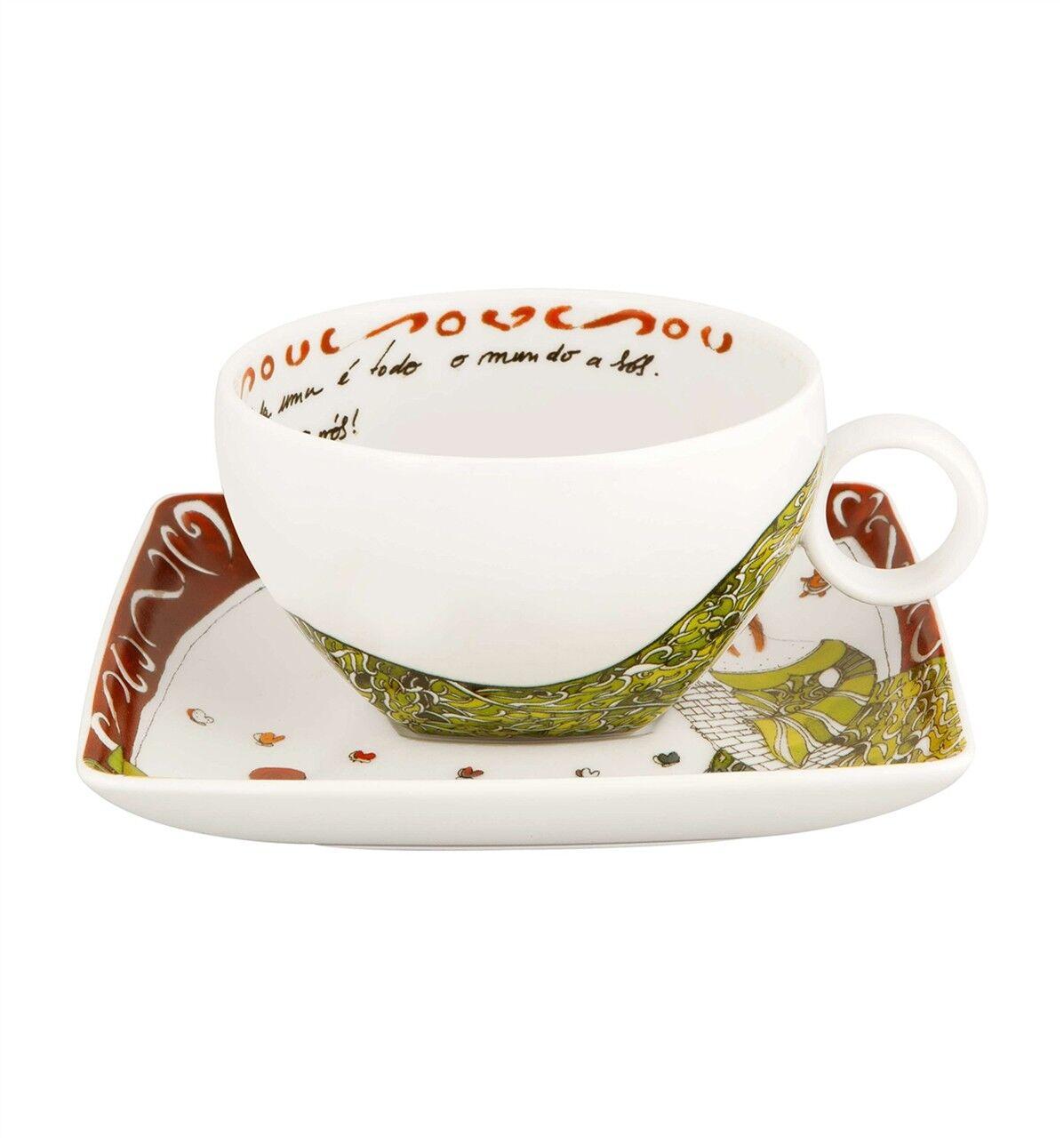 Vista Alegre Vimaranes Tasse à thé & soucoupe-Lot de 8