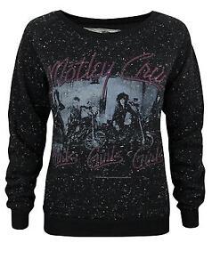 Amplified-Motley-Crue-Girls-Girls-Girls-Women-039-s-Speckled-Sweater