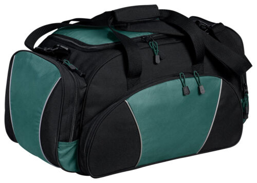 BG91 Port /& Company Casual Padded Strap Dobby Contrast Polyester Duffel Bag