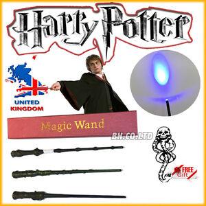 New-Harry-Potter-Hermione-Dumbledore-Magic-Wand-Led-light-up-in-Box-freeTattoo