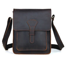 New Men's Rustic Genuine Leather Messenger Shoulder Bag Small Cross Body Satchel