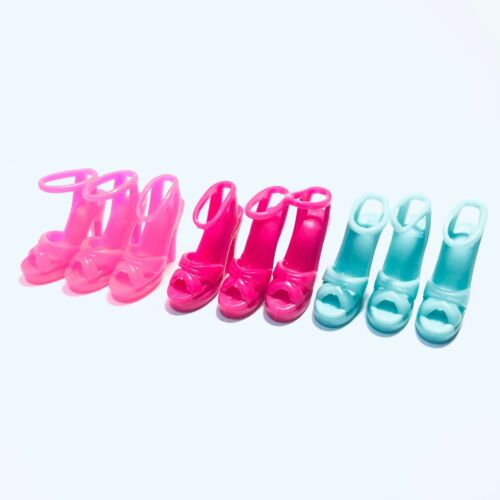42 Pair 3 colors fashion DOLL Shoes   For 11.5in DoLL High Heels Sandals