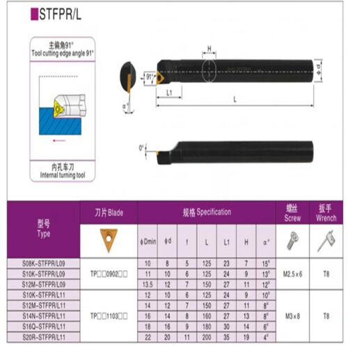 S12M-STFPR09 CNC Lathe Internal Turning Tool Holder For TP0902 Insert