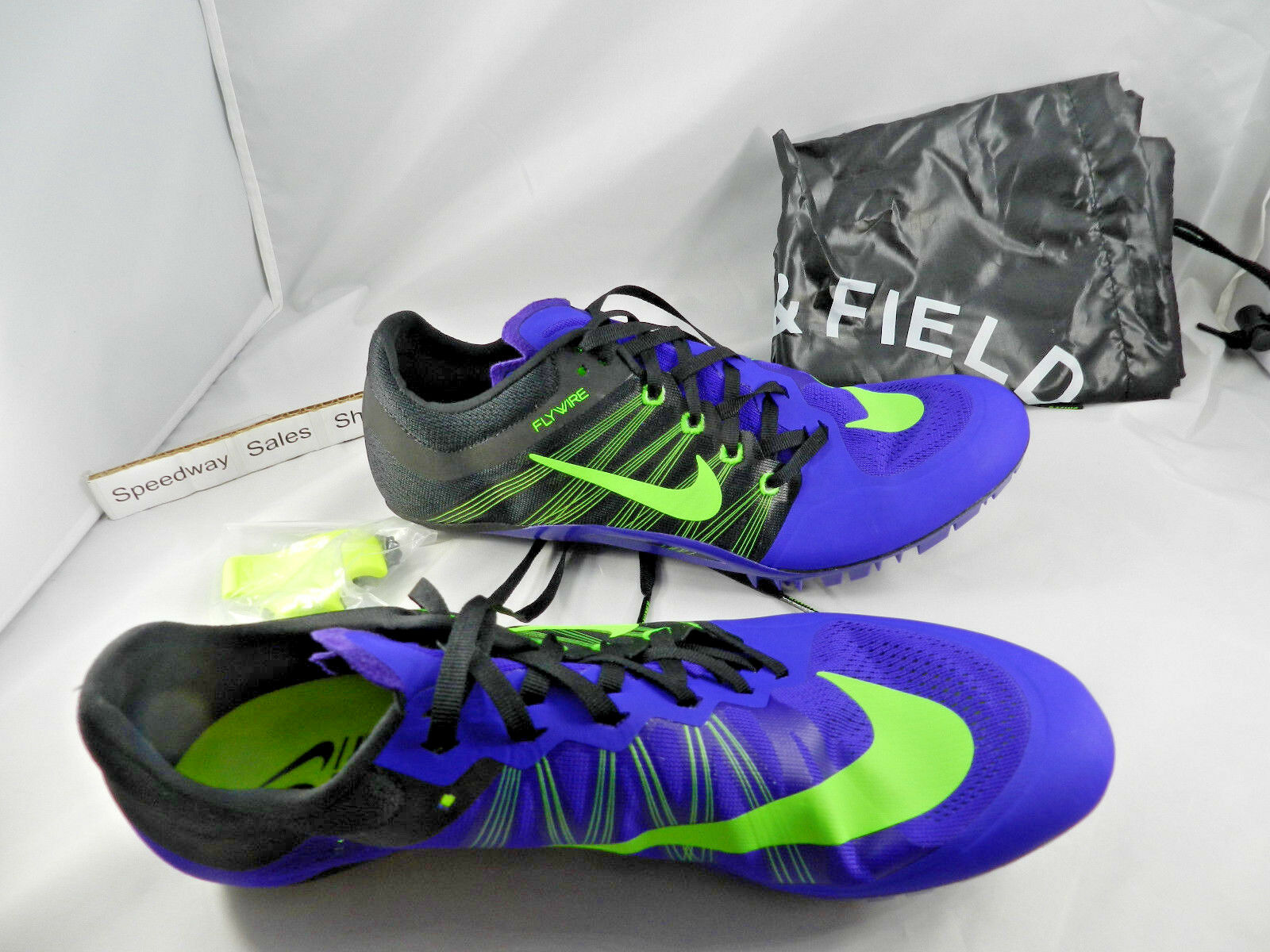 Nike Zoom Ja Fly 2 Track Spikes Purple Black Mens SZ 11 W Tool&Spikes 705373 035