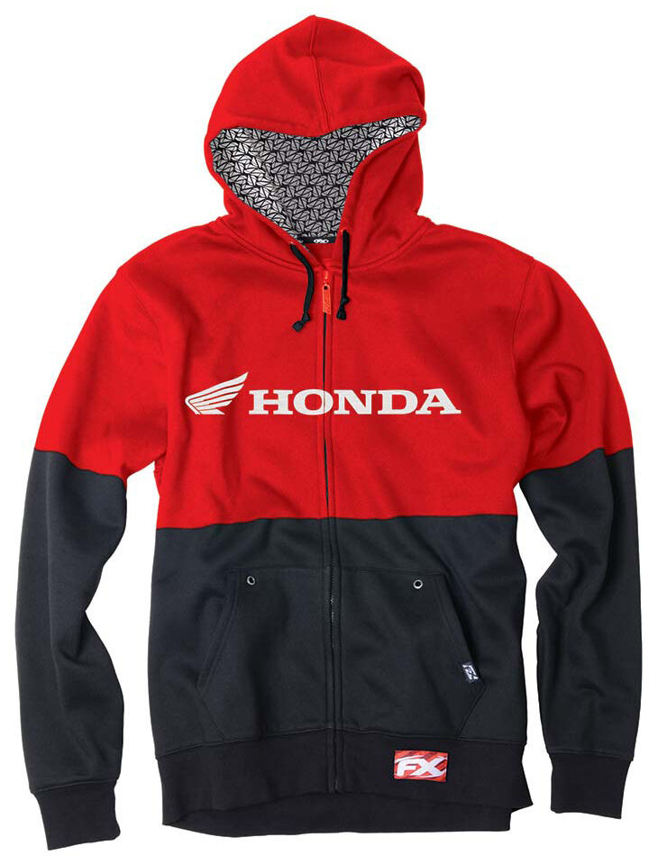 Factory Effex Honda Double Zip-Up Hoodie  - Mens Sweatshirt
