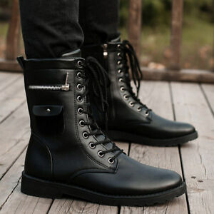 1e78c2269b4 Details about Men's Martin Boots High Top Long Boot Motorcycle Punk Shoes  Outdoor
